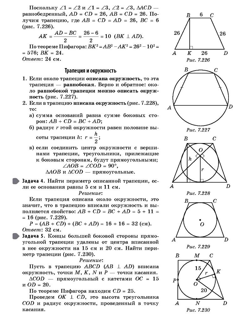7.3. Многоугольники (справочник ОГЭ)